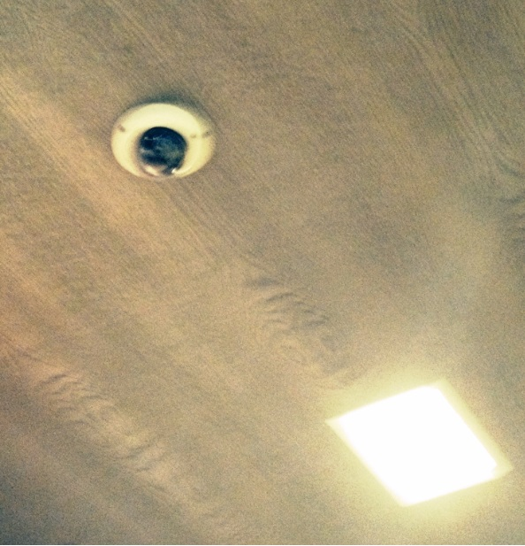 in ceiling camera install
