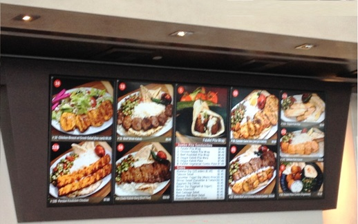restaurant display signs