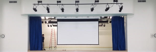 projector screen iinstalltion for sport venues, religious venues and home theaters